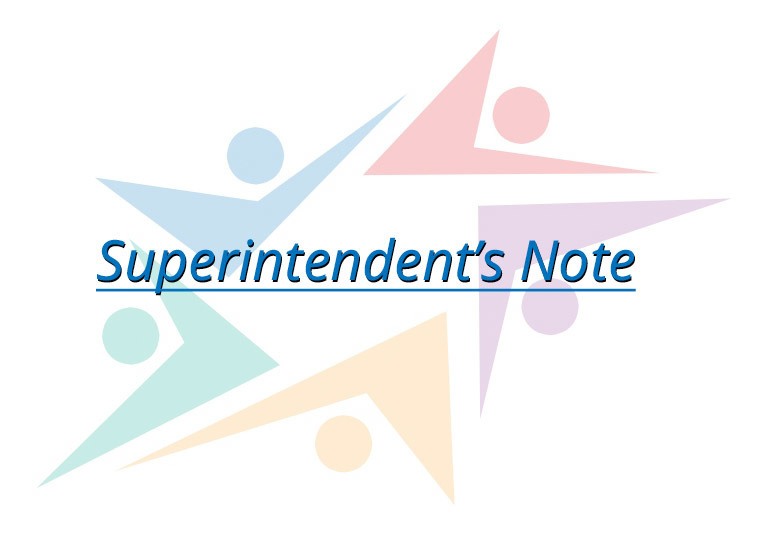 Superintendents Note - April 17, 2020