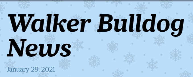 SD104 Walker Elementary School Jan. 29, 2021 Newsletter