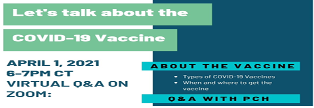Summit Community Covid-19 Vaccine Q & A Virtual Event- April  1, 2021