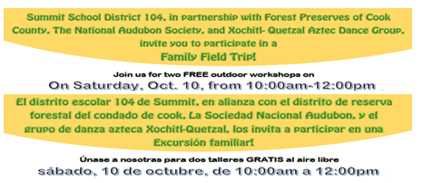 Join us for two FREE outdoor workshops on Saturday, Oct. 10 from 10:00am to 12:00pm!  Únase a nosotras para dos talleres GRATIS al aire libre Sabado, 10 de Octubre de 10:00am a 12:00pm!
