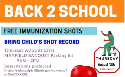 SD104 Notes From The Nurses:  Back 2 School FREE Immunization Shots Available