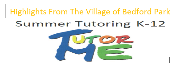 Highlights From The Village of Bedford Park Summer 2020 Tutoring Program