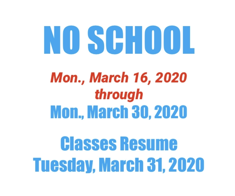 03/15/2020: SD104 NO SCHOOL Extended Schedule Update