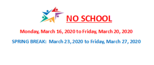 Friday, Mar. 13, 2020: SD104: NO SCHOOL SCHEDULE UPDATE
