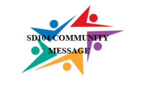 SD104 Community Message: Update- School Health and Wellness (COVID-19) Coronavirus