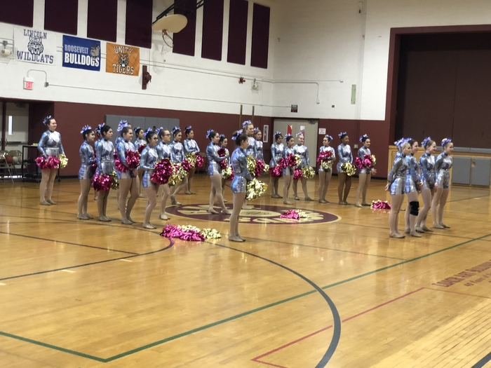 Argo High School Varsity Pom Squad performs for HMS 8th Grade.