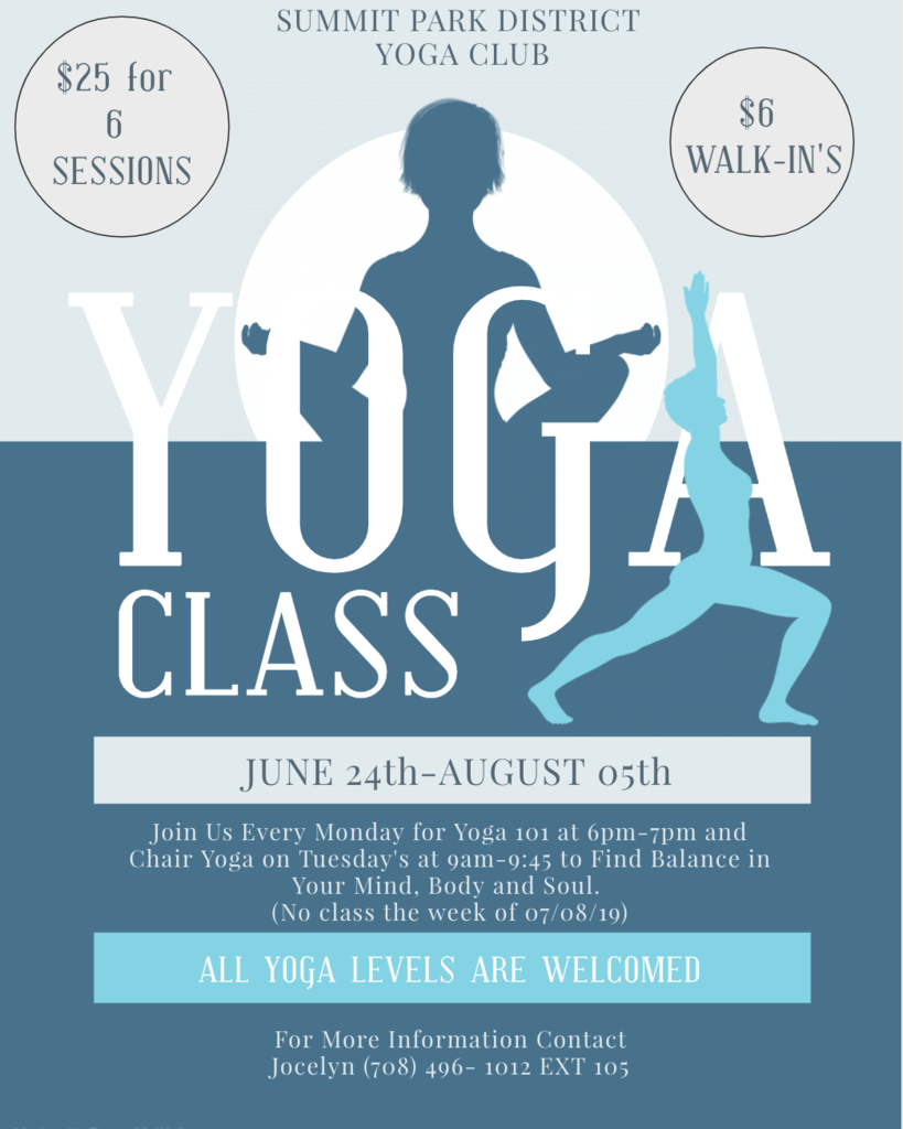 Summit Park District Yoga Class
