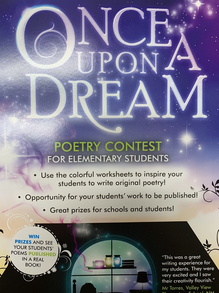 Wharton - Good luck  Ms. Xheraj's class!  We hope you take first for the poetry contest.